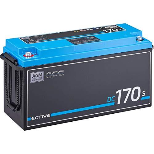 ECTIVE 170Ah 12V AGM Versorgungsbatterie DC 170s mit LCD-Display VRLA Solar-Batterie mit integrierten Nachfüllpacks
