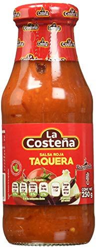 La Costena Salsa Taquera | 220ml | Mexikanische Küche | aus Arbol-Chilis | wunderbar scharf & pikant | Perfekt zu Tacos oder Nachos | Hervorragender Geschmack