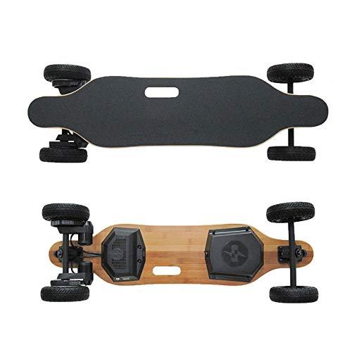 WOTR Elektro-Skateboard, Skateboard Maple Off-Road-vierrädrige Elektroroller drahtlose Fernbedienung Smart Roller Erwachsenen Longboard Skateboard