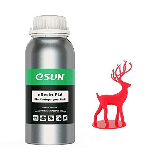 eSUN 3D Printer bio Resin for LCD 3D Printers, 500g eResin-PLA Red