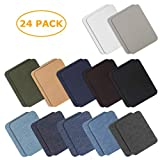 sopplea 24 Pezzi 12 Colori 3,7'x 4,9' Toppa Iron-on Patch Patch da Lavoro di undise