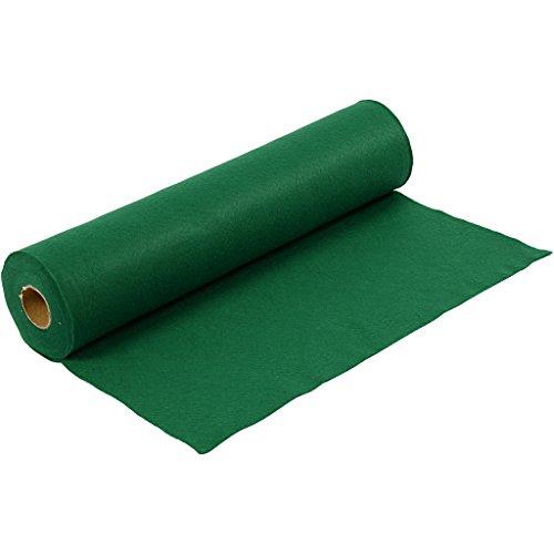 Fieltro para manualidades, ancho: 45 cm, verde, 5m