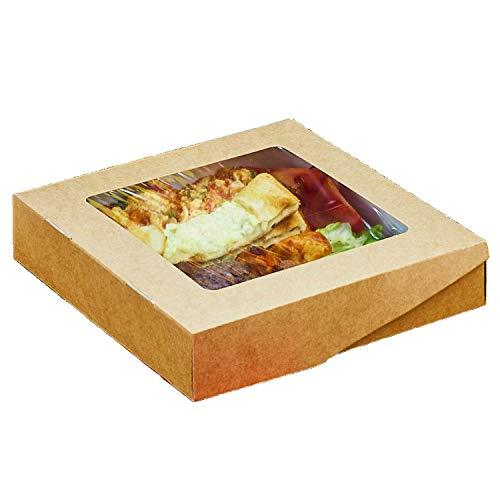 PackundCup Essensschachtel SELFBOX Window 1500 ml 50 Stück