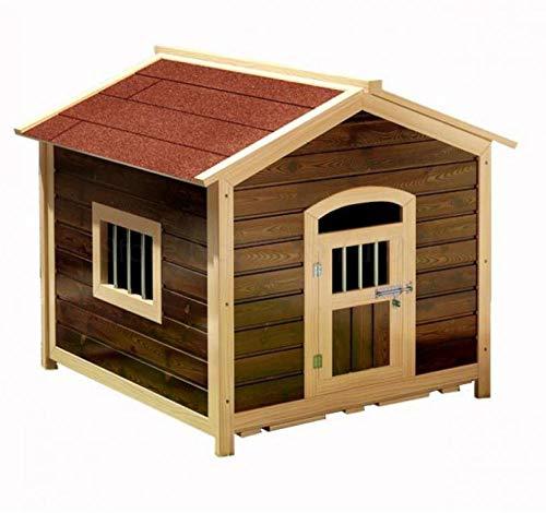 Massief dennenhouten hondenhok voor buiten, waterdichte en lekvrije hondenkooi, kleine en middelgrote grote honden- en kattenhokken met deuren en ramen