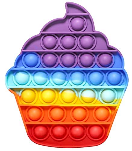 Fidget Toy Juguete Antiestres - Pop It Sensorial Helado para Niños y Adultos - Push Pop it Bubble Sorbete Among - Juguetes Antiestrés de Explotar Burbujas para Aliviar estrés y Ansiedad