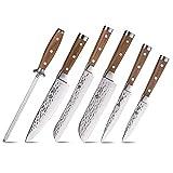 BGT Damastmesser 4er Messer Set,Japanischem vg-10 extra scharfe Küchenmesser Sets
