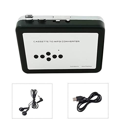 ZXY Reproductor De Casete Portátil, La Cinta De Casete Al Convertidor MP3 Walkman Cintas Grabadora A Través De TF con Auriculares