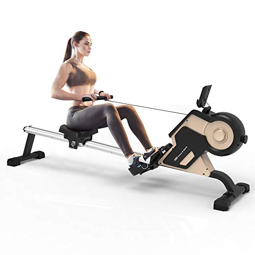 Find Discount Merax Rowing Machine Rower with Magenetic Resistance LCD Monitor 340 LBS Max Weight Ca...