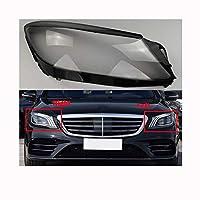 車のレンズカバー 自動車のヘッドライトカバーフィット感のためのメルセデス・ベンツSクラスW222 S350 S400 2018年から2020年の透明ランプシェードシェル車のフロントガラスのヘッドランプヘッドライトカバー 車のレンズシェル (Color : Left)