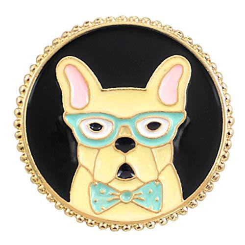 Flairs New York Premium Handmade Enamel Lapel Pin Brooch Badge ([Dog] Pit Bull, 1 Pin)
