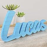 Wood Expression Letras Decorativas para Nombres de Madera Maciza Natural para decoración hogar, decoración habitación para comuniones, Eventos, Bodas (Nombres de 4 Letras)