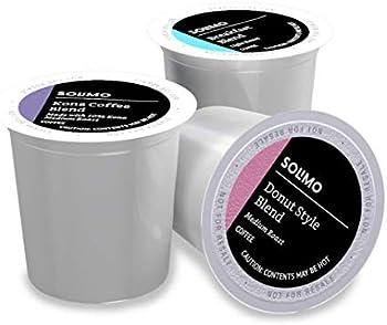 100-Count Amazon Brand Solimo Light and Medium Roast Coffee Pods