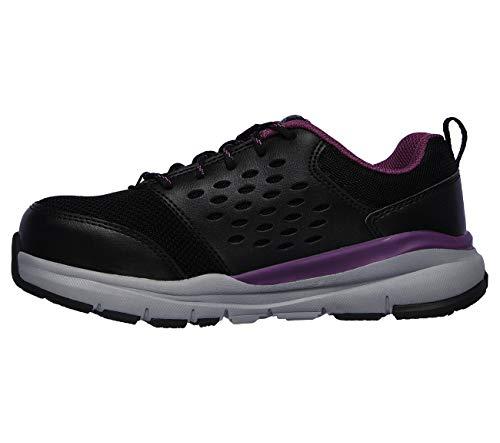 Skechers Womens Corrick Memory Foam Work Safety Shoes Black 9 Medium (B,M)