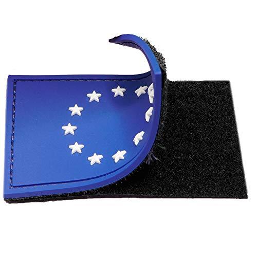 Parche Bandera Unión Europea para mochilas militares tácticas y parches para ropa, bandera UE - Parches militares con Bandera de Europa- 75 x 50 mm