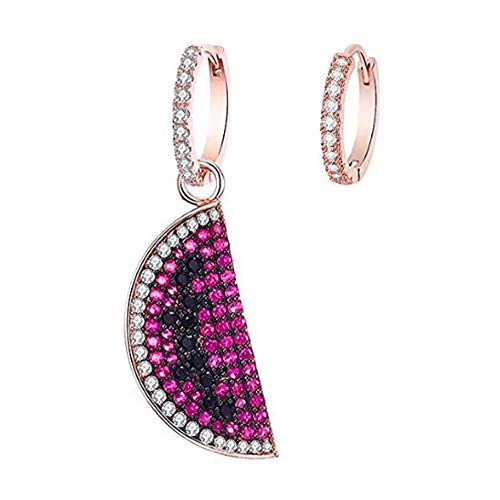 N\A Hoop Earrings Rose Gold Watermelon Hoop Earring Hypoallergenic Lightweight Hoop Earrings Big Hoop Earrings for Women Girls