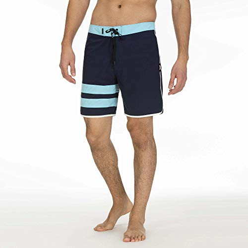 Hurley Herren Boardshort M Phantom Block Party SOLID 18', Blue Gaze, 31, AQ9986