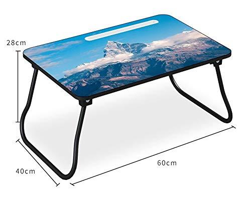 Bed laptop multifunctionele student lui laptop klaptafel kleine tafel om te eten te leren speciale lichte draagbare (Color : Blue)