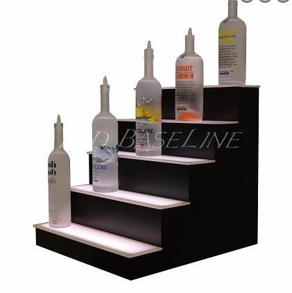 "Price comparison product image LED Lighted Liquor Bottle Display Shelf,  64"",  5 Steps"