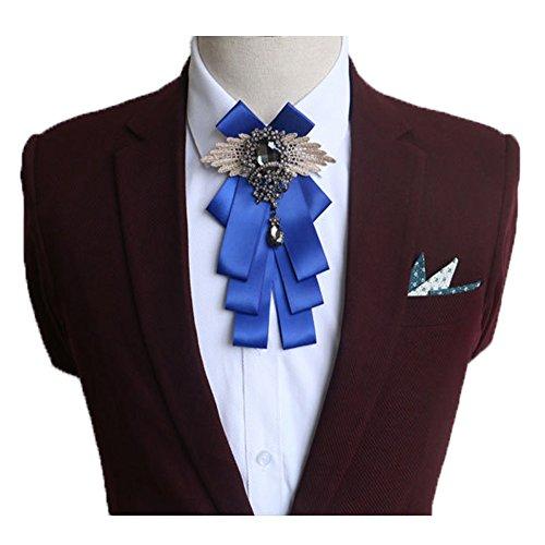 Fuerjia Royal blue Wedding bow tie Classic Party Pair Bowknot Necktie wedding bridegroom Host gift (H13-Royal blue)