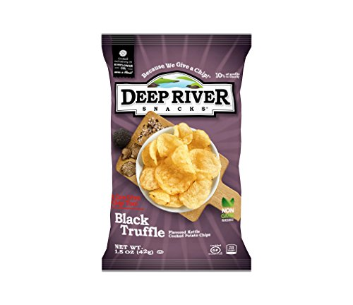 Deep River Snacks Kettle Potato Chips, Black Truffle, 1.5-Ounce (Pack of 24), Gluten Free, Non GMO, 1.5 Ounce (Pack of 24)