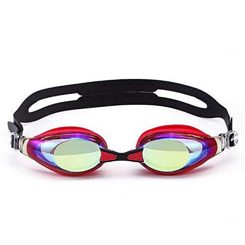Nologo Gafas de natación miope Gafas de natación Adultos contra la Niebla no Haya Fugas de protección UV Gafas de natación de Silicona Suave Puente de la Nariz Hombres Mujeres BBGSFDC