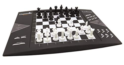 Lexibook electrónico (CG1300) ChessMan Elite ajedrez inteligente, 64 niveles de dificultad, LED, juego de mesa infantil familiar, negro/blanco, color