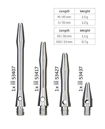 BULL'S Herren Simplex Aluminium Shaft, Medium, Silber