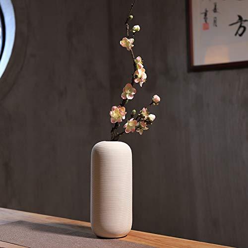 GANHUA Chinese klassieke simulatie, pruim bloesem, woonkamer, florale decoratie, interieur decoratie, bloemstuk, nep bloem, gedroogde bloem, pruim bloesem tak Set seven