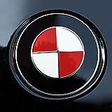 Generisch Emblema para capó, volante, portón trasero, 68 unidades, pegatinas para esquinas E92, E36, E46, 3, 5, 7 (rojo)