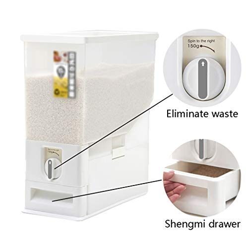 Glasbehälter & Töpfe Reis Eimer versiegelt Reis knuspriger dosiert Küche Reis Eimer Haushalt feuchtigkeitsbeständig und insektensicher versiegelt Reis Aufbewahrungsbox Lebensmittelaufbewahrung