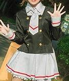 Anime Cosplay Card Captor Sakura Cosplay dress tshirt+skirt+coat+tie+Wigs Women Halloween Kinomoto Sakura cosplay costume girls XL only costume