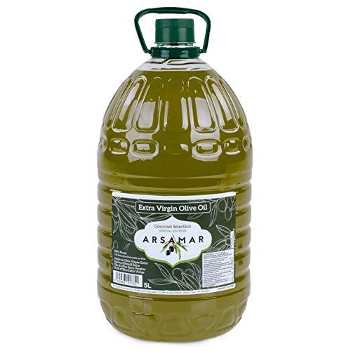 Extra vierge olijfolie Vroege extractie verkregen uit de eerste koude persing van de voortreffelijke Picual-variëteit (Karaf 5 liter)