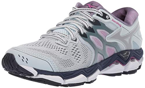 Mizuno Women's Wave Horizon 3 Running Shoe, Quarry-Silver, 11 B US