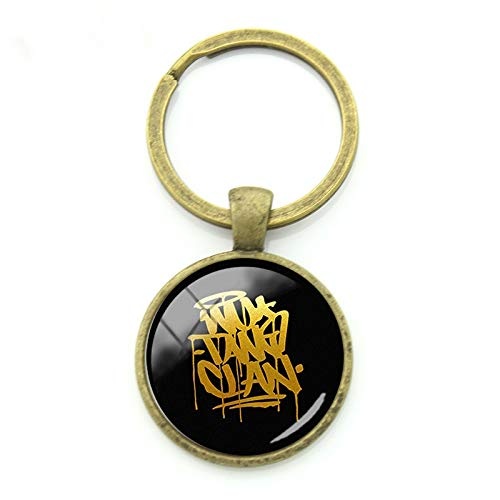Letter Style WU Tang Clan Keychains New Fashion Pendants Keyrings for Men Women Art Picture Badge Party Gift Jewelry WT18