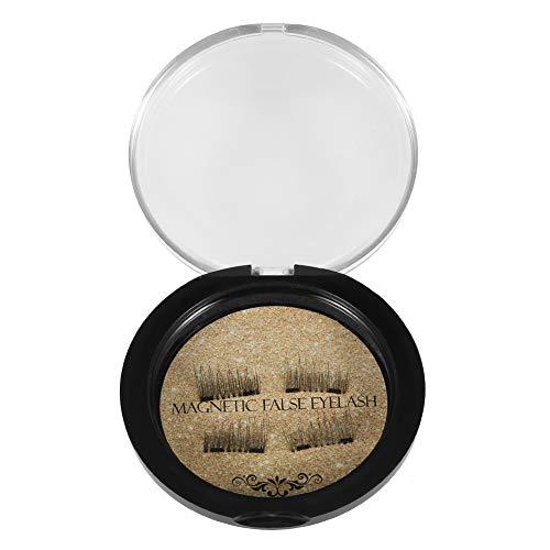 Cadeaux de mai Faux cils, 2 paires 3D double magnétique épais épais faux cils naturel cils extension outil de maquillage