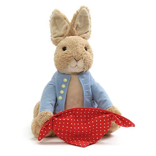 GUND Beatrix Potter Animated Peek-a-Boo Peter Rabbit Sound and Motion Plush Stuffed Animal, 10'