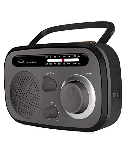 Radio portatil, Gris,Am/FM, Pila y Red (sytech)