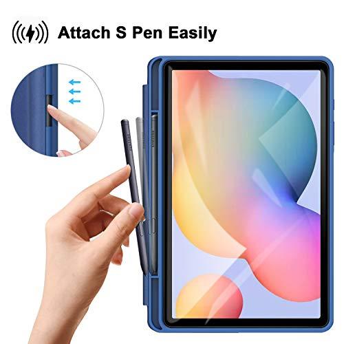 ZtotopCase Hülle für Samsung Galaxy Tab S6 Lite 10.4 2020,Ultra Dünn Leicht Smart Cover,mit Stifthalter,mit Auto Schlaf/Wach Funktion,für Galaxy Tab S6 Lite 10.4 Zoll Tablet,Blau
