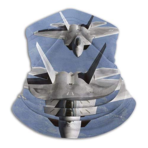 U.S. Air Force F-22 Raptor in The Sky Unisex Microfiber Neck Warmer Headwear Face Scarf Mask For Winter Cold Weather Mask Bandana Balaclava