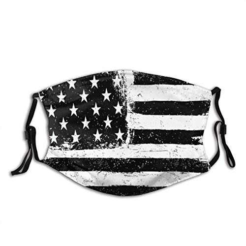 aiteweifuzhuangdian Grunge Aged Schwarz-Weiß-amerikanische Flagge Unabhängigkeit 4. Juli Staubschutzabdeckung Waschbar Wiederverwendbar, Staubdicht, Radfahren
