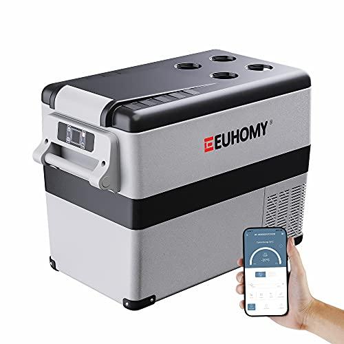 Euhomy 12 Volt Refrigerator, 45Liter(48qt) Car Refrigerator, RV Refrigerator with 12/24V DC and...