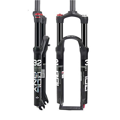 Suspension Fork Horquilla neumática de Carbono,suspensión Bicicleta de montaña Bicicleta MTB Horquilla Tubo de dirección de Carbono, Horquilla neumática con Amortiguador de aleación de Aluminio