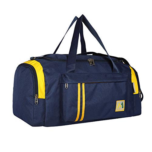 M Medler Apricate Nylon 55cms Cabin Size Blue Travel Duffle Bag- Navy Blue