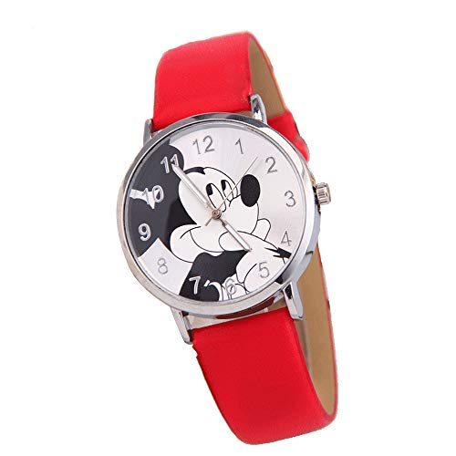 Minnie Mouse Unisex Niño Reloj de Cuarzo clásico con Correa de PU