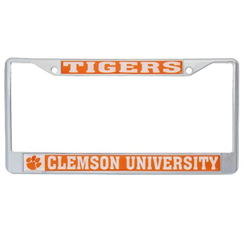 Desert Cactus Clemson University Tigers Metal License Plate Frame for Front Back of Car Officially Licensed (Mascot)