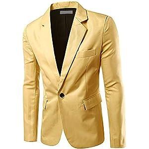 [アスペルシオ] カラフル 長袖 ジャケット メンズ フォーマル 紳士 細身 細い アウター シングル ボタン 1つボタン ジャケ オラオラ系 お兄系 うすで オールシーズン お洒落 ブレザー メンズブレザー オフィス ビジネスカジュアル スーツ生地 テーラード テーラードジャケット テーラー テラード 裏地 モード ジャケパン 長そで ロングスリーブ ながそで beige (M) ベージュ色