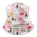 Dydan Tne Lindo Bulldog Y Macaron Pink Unisex Microfibra Cuello Calentador Headwear Pañuelo Facial