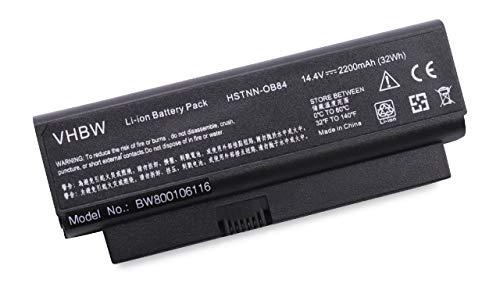 vhbw Li-ION Batterie 2200mAh (14.4V) pour Notebook HP Business Notebook 2230s comme HSTNN-OB77, 482372-322.
