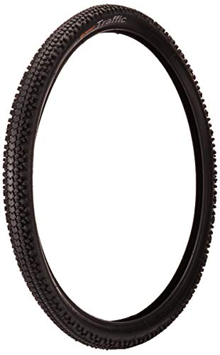 Continental Traffic Bike Tire, Black, 26 in X 2.1