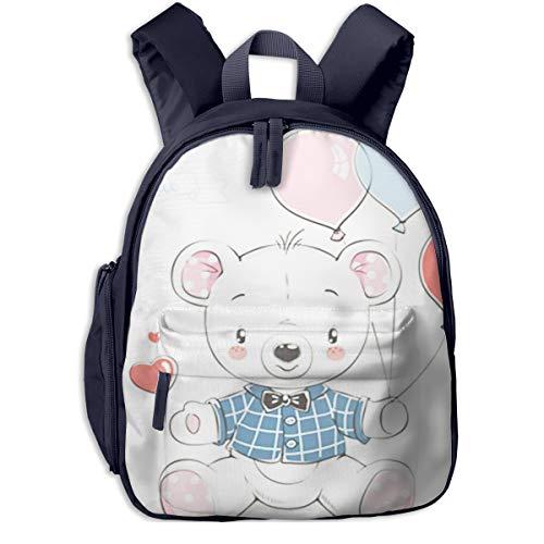 Kinderrucksack Kleinkind Jungen Mädchen Kindergartentasche Bärenballons Backpack Schultasche Rucksack